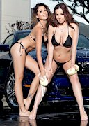 Naked Car Wash with Elizabeth Marxs and Ali Rose!