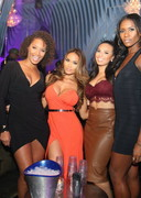 Daphne Joy Hosts Party in Semi Strapless Dress!
