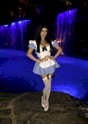 Melissa Howe Dressed as Alice from Alice in Wonderland!