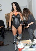 Micaela Schaefer in Super Hero Bodypaint at Erotic Fair!