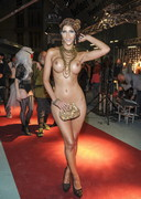 Micaela Schaefer Completely NUDE at an Exhibition!