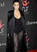 Kim Kardashian Cleavage at Rihanna's Diamond Ball!