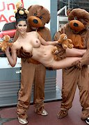 Micaela Schaefer is Topless with Bears!