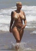 Amber Rose Caught Topless at the Beach!