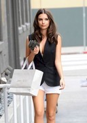 Emily Ratajkowski Showing a Hint of Cleavage.. But, it's Enough!
