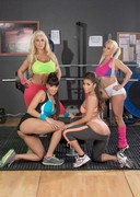 Sexy Porn Stars Naked at the Gym!