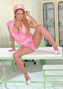 Busty Pink Nurse Katie Thornton!