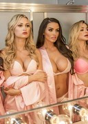 Abigail Ratchford, Lindsey Pelas and Friends had a Slumber Party!