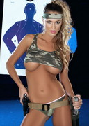 Charlie Riina Strips at a Shooting Range!