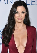 Jayde Nicole in a Deep Cut Dress!