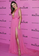 Miranda Kerr's Cleavage in Pink!