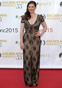 Hayley Atwell Closing Ceremonies in Monaco with Cleavage!