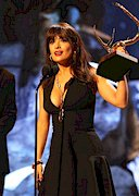 Salma Hayek's Cleavage Wins Guy's Choice Award!