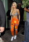 Rita Ora goes Clubbing in Chainmail Bikini Top!