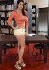 Alison Tyler Strip in the Library!