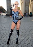 Micaela Schaefer is a Skeleton for Halloween!