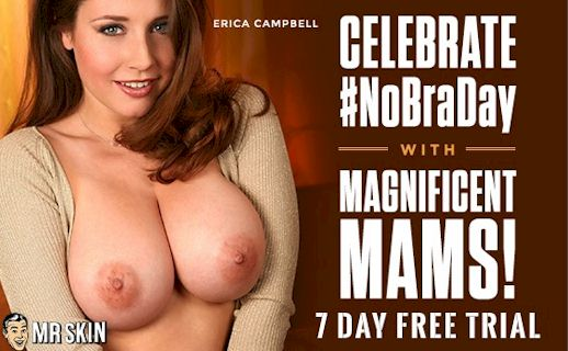 Celebrate #NoBraDay with Carrie Stevens and Mr. Skin!