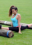 Pascal Craymer Working Out with a Big Pole!