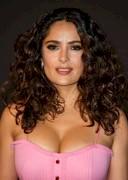 Salma Hayek's Boobs in Pink at a Film Gala!