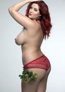 Lucy Collett is Topless Under the Mistletoe!