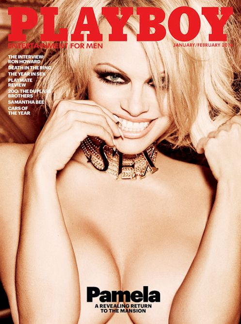 Pamela Anderson on the Cover of Playboy's Last Nude Issue!