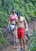 Katy Perry Hiking in a Bikini Top!