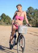 Katarina Kozy Riding a Bike Naked!